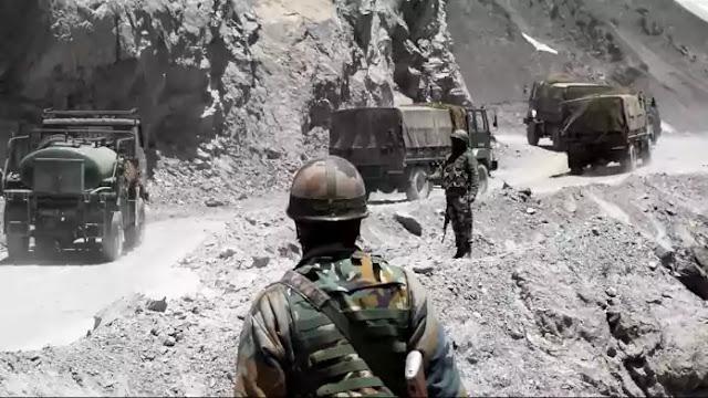 Army convoy moving to eastern ladakh