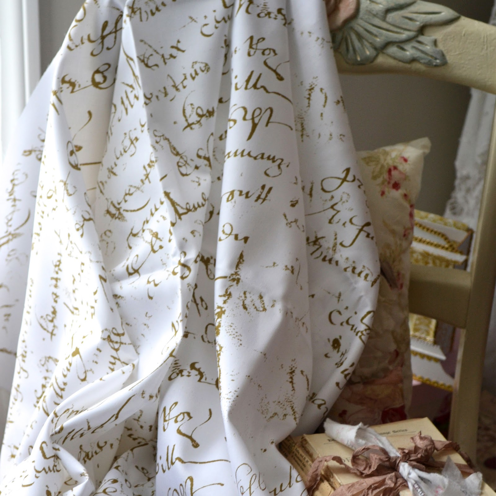 Curtains Source A SCRAPBOOK OF INSPIRATION French Script Fabric Inspiration