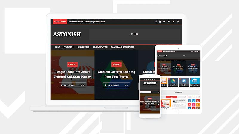 Astonish Premium  Blogger Template free