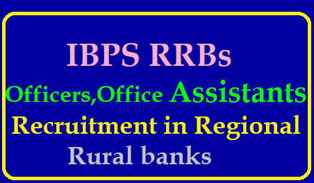 Recruitment for IBPS RRBs Officers, Office Assistants in Regional Rural Banks 2019 https://www.paatashaala.in/2019/06/ibps-rrbs-officers-office-assistants-scale-recruitment-apply-online-application-form.html