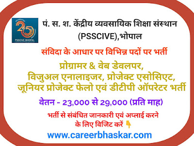 PSSCIVE, Bhopal Recruitment 2019