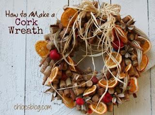 Ghirlanda legnetti e frutta secca