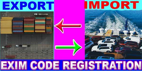 EXIM code registration