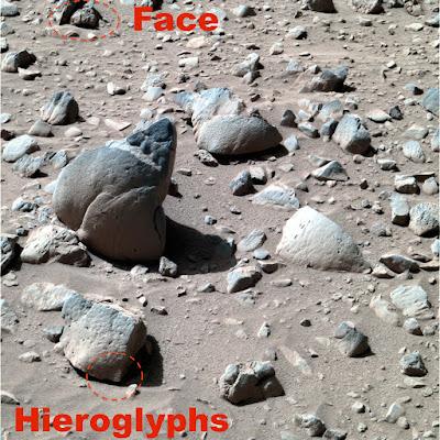 FACEBOOK Hieróglifos extraterrestre finalmente encontrotado pela  NASA