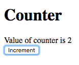 Value of counter is 2
