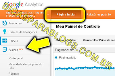 Como usar os atalhos do Google Analytics