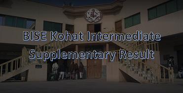 Intermediate Supplementary Result 2020 BISE Kohat Board