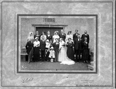 Mariage vers saint Gervais d'Auvergne, 1932.