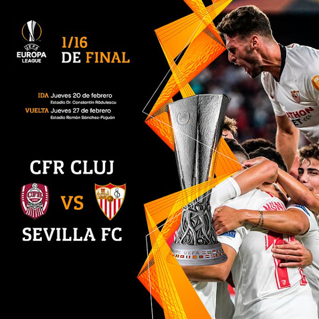 Sevilla FC Cluj 16avos Europa League