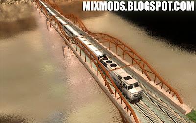 gta sa mod cleo trens com mais vagões