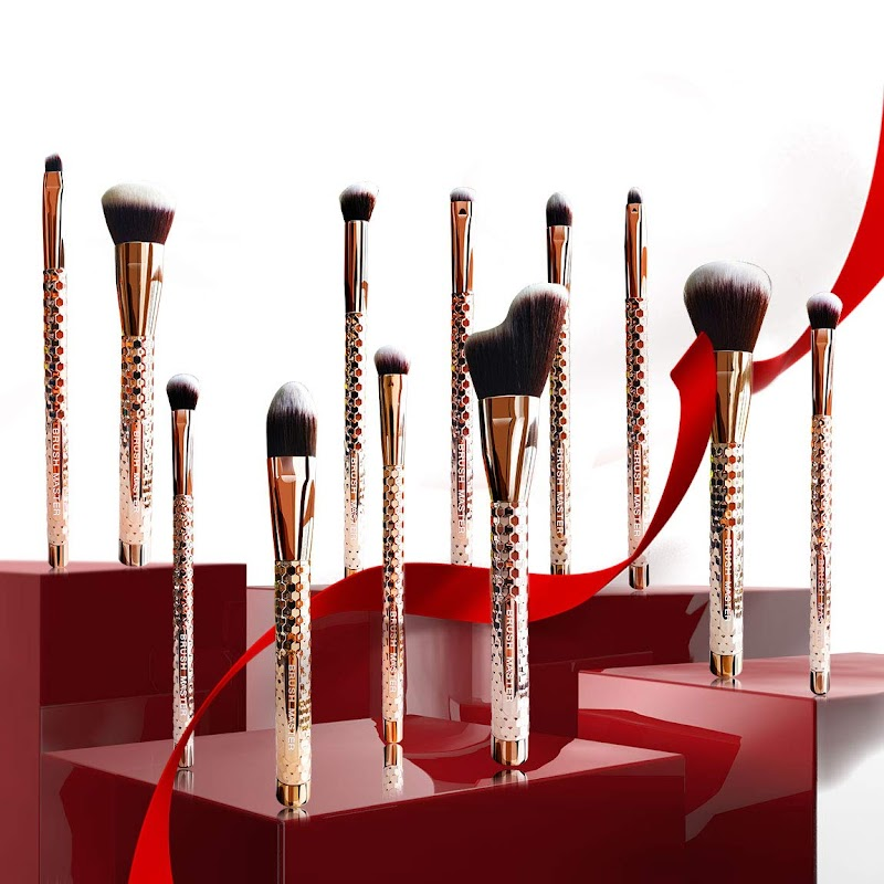 40%OFF Brush Master Makeup Brushes, Premium Synthetic Kabuki Foundation Face Powder Concealers Eye Shadows Makeup Brush Set, 12 Pcs