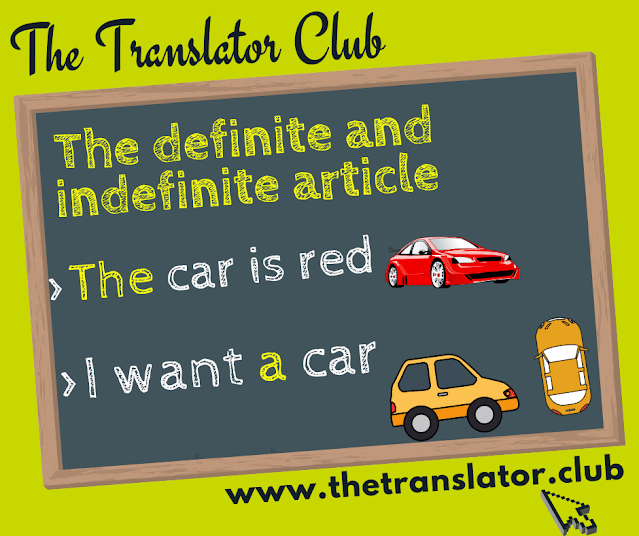 The definite and indefinite article