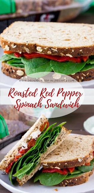 Roasted Red Pepper Spinach Sandwich