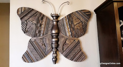 giant butterfly recycled art