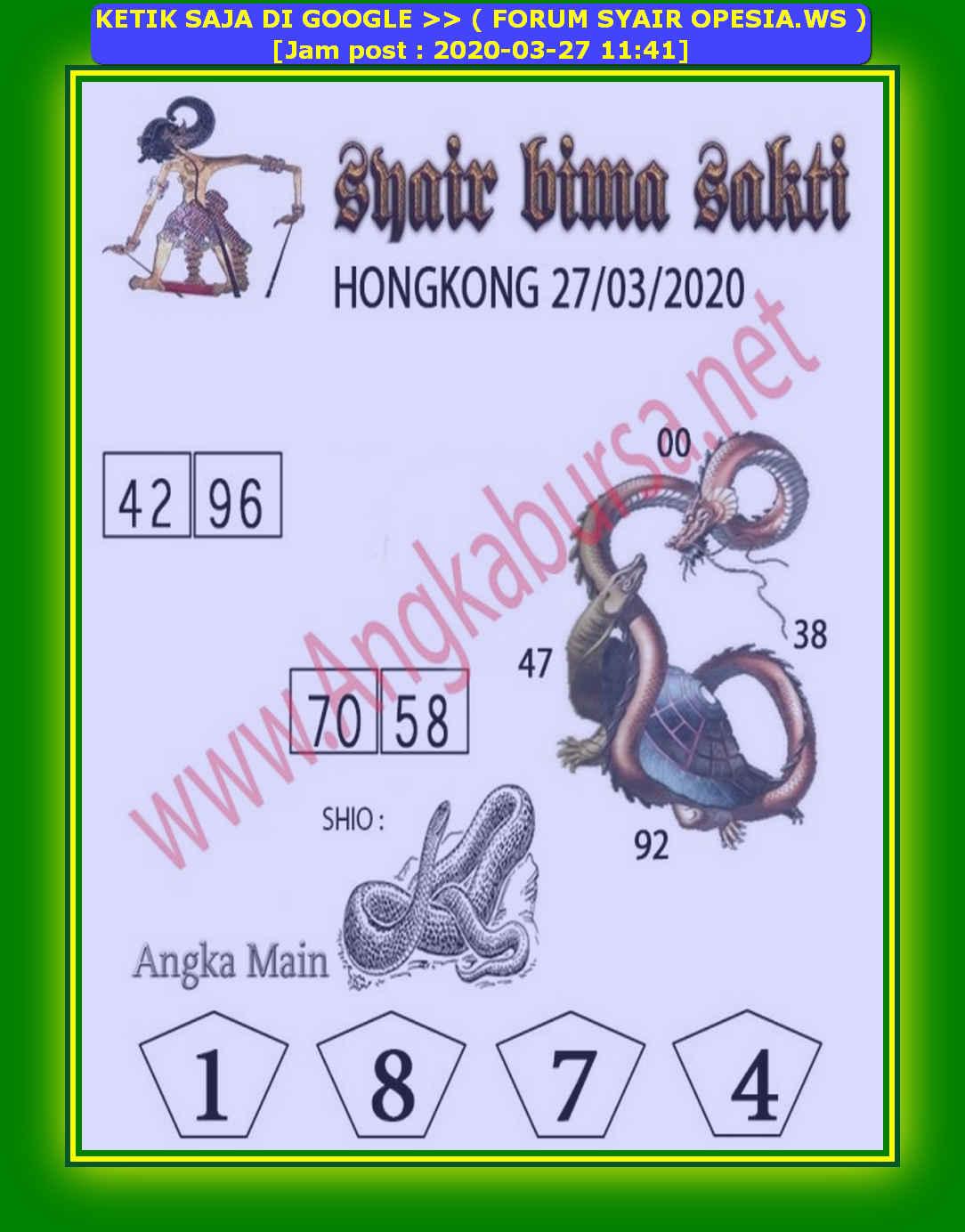 Kode syair Hongkong Jumat 27 Maret 2020 96