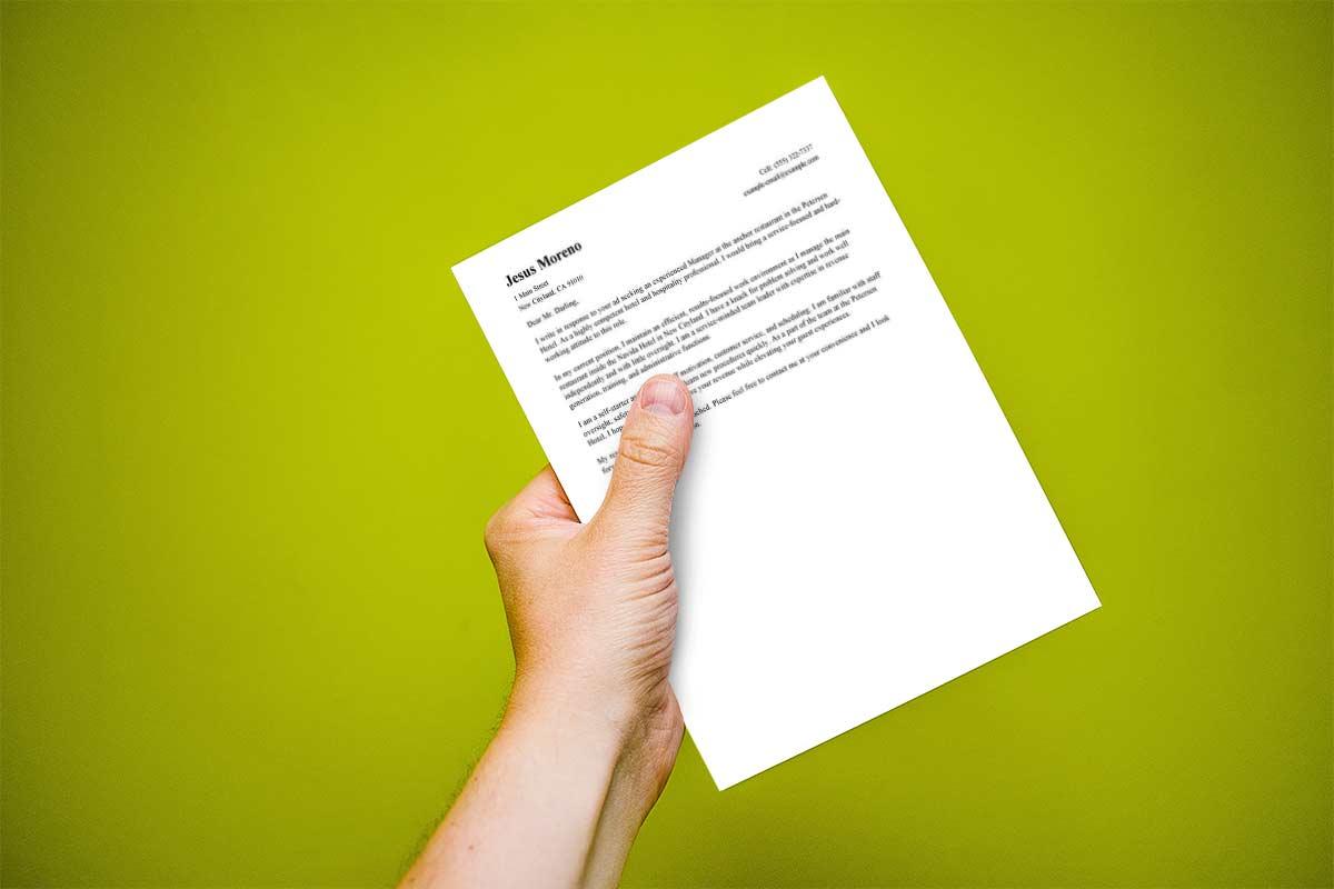Carta de presentación para trabajo ejemplo - Todo Empleo | Consejos ...