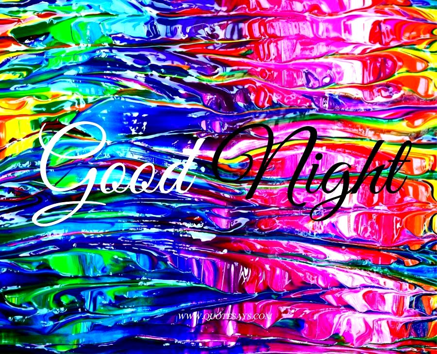 Good Night In Colorful Waters