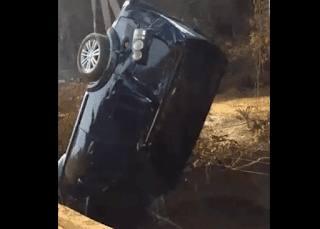 Carro com filhos do cantor Leonardo capota e cai em rio; veja vídeo