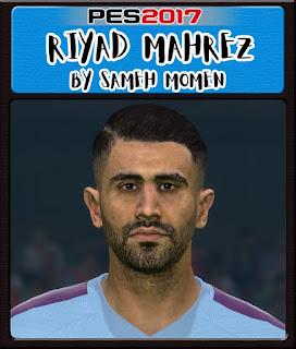 PES 2017 Faces Riyad Mahrez by Sameh Momen