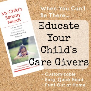 My Child's Sensory Needs Brochure