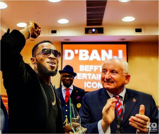 D'banj Receives BEFFTA Entertainment Icon Award At The British House Of Parliament