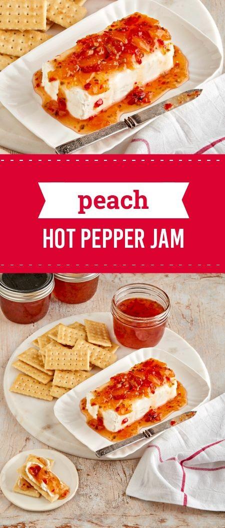 Peach-Hot Pepper Jam