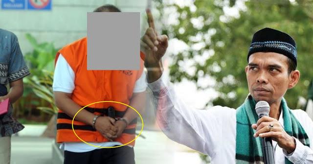 Pelaku Persekusi Ustadz Abdul Somad Diborgol Tangan