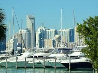 Marina y Miami de fondo