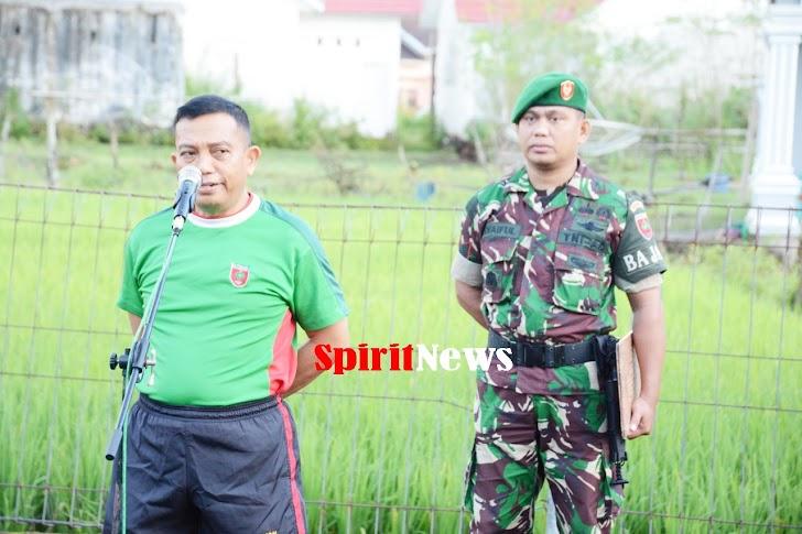 Personel Korem 141/Tp, Rutin Melakukan Senam Kebugaran Untuk Kesehatan Tubuh