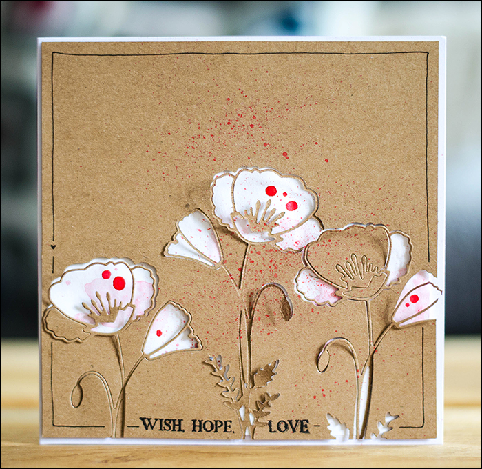 Stephanie Berger - Cardmaking - Karte Mohn