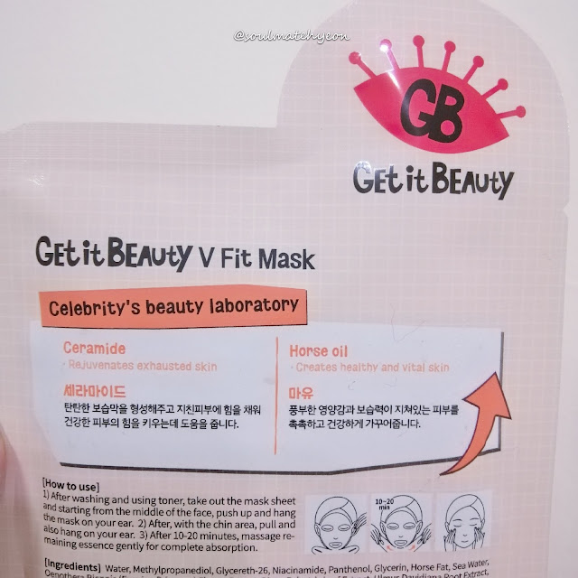 Review; Get It Beauty CeLABrity V Fit Mask + First Impression