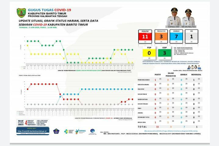Data Update Hari Ini, Jumlah dan susunan Pasien Covid- 19 di Kabupaten Bartim Hasil Survei Gugus Tugas