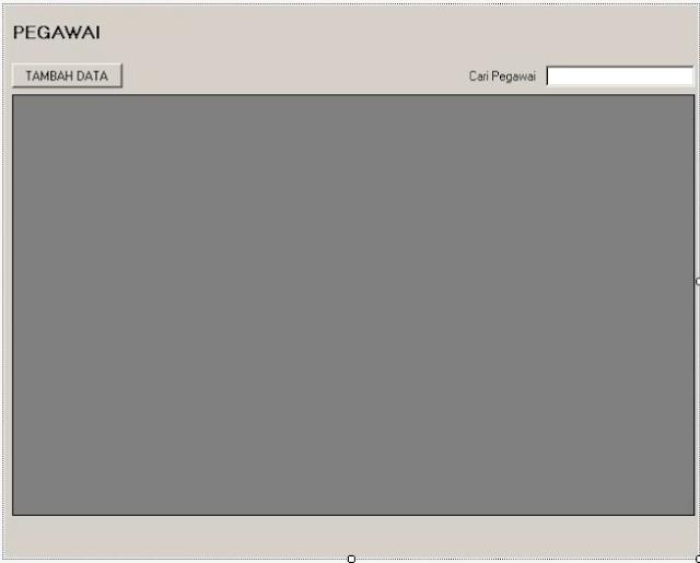 Desain form pegawai pada aplikasi inventaris menggunakan vb.net