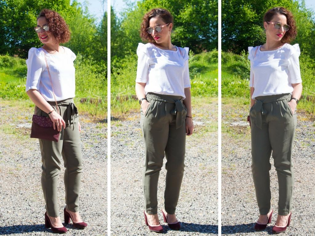 Le pantalon taille haute : 2 looks, 2 styles