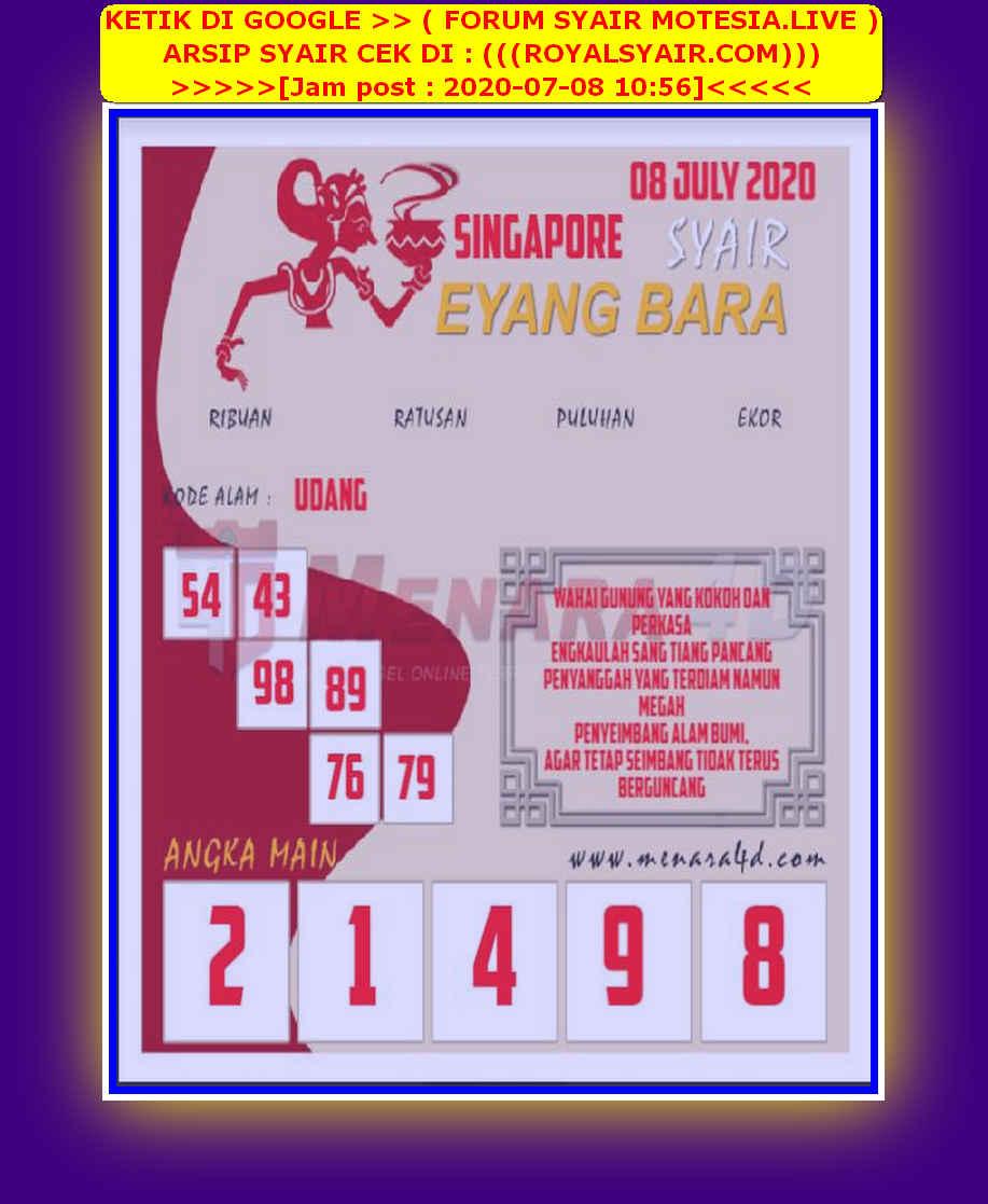 Kode syair Singapore Rabu 8 Juli 2020 179