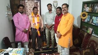 वरिष्ठ पत्रकार जगदीश राठौर का प्रदेश संगठन मंत्री सुरेश राठौर व अन्य पदाधिकारियों ने किया सम्मान