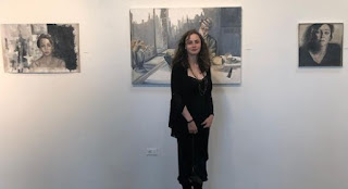 Picture of Stella Street Guggenheim with her painting