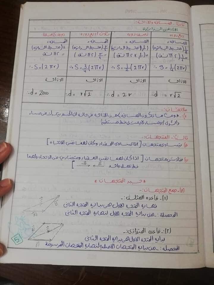 ملخص فيزياء أولى ثانوي مهم جدا  5