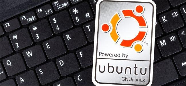 ملصق Ubuntu على لوحة مفاتيح الكمبيوتر ؛