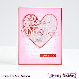Stamp/Die Duos: Valentine's Day Custom Dies:  Ornate Hearts, Sentiment Strips Paper Collection: Sweet Hearts