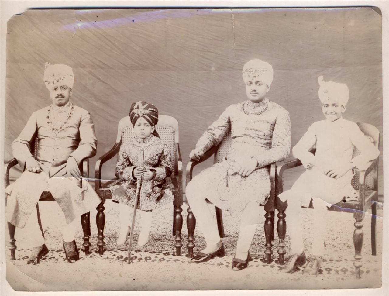Photographs of Indian Royal or Aristocratic Family Members - c1906 ...