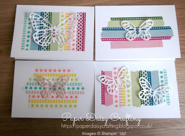 Butterfly dies and washi tape from Stampin' Up!