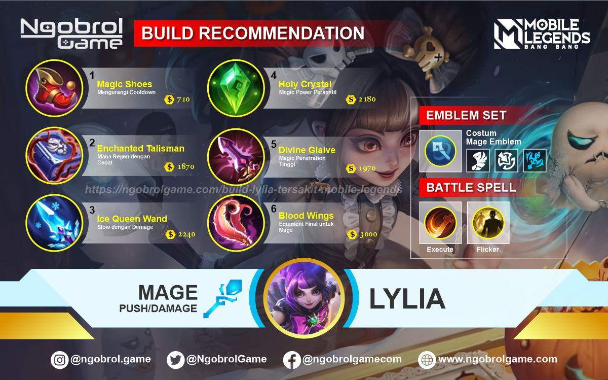 Build Lylia Top Global Tersakit Mobile Legends