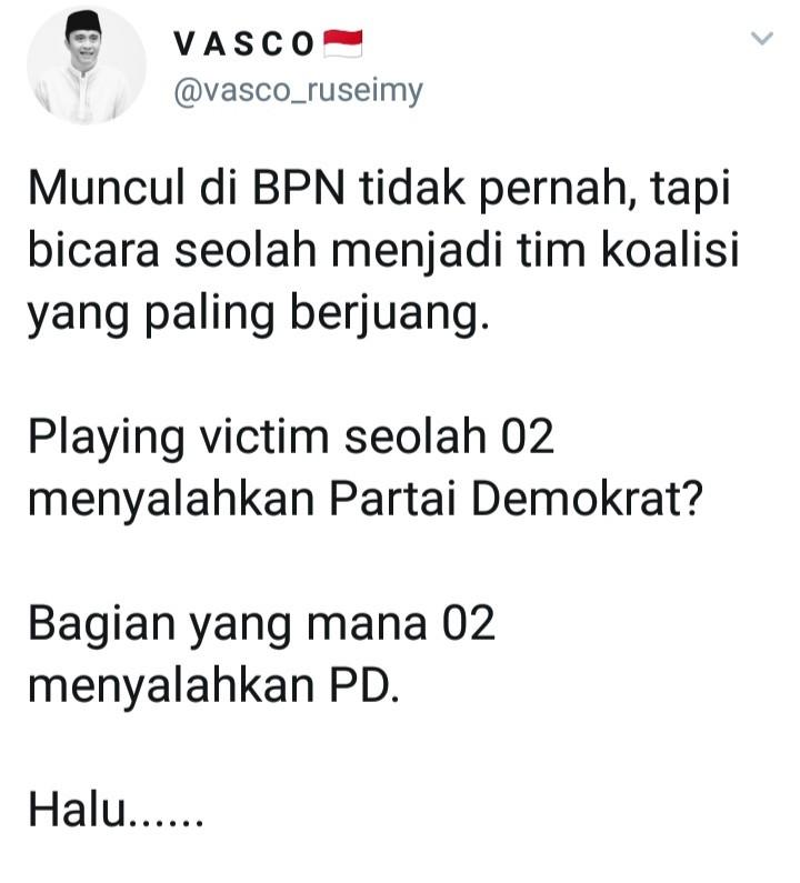 Sebut Prabowo-Sandi Salahkan SBY, BPN Bungkam Andi Arief
