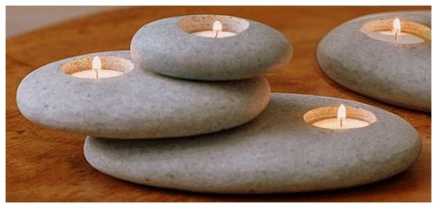 DIY Κηροπήγια από Βότσαλα-Πέτρες
