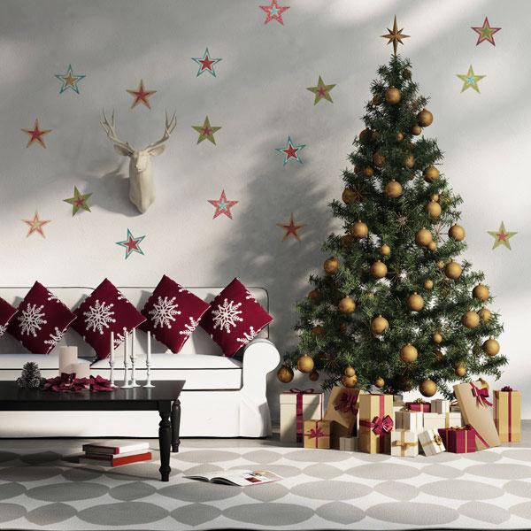 decoracion navidad salas pie de arbol, decoracion navideña para sala
