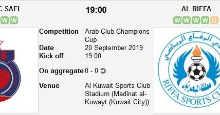 مشاهدة مباراة الرفاع وأولمبيك آسفي بث مباشر بتاريخ 01-10-2019 البطولة العربية للأندية