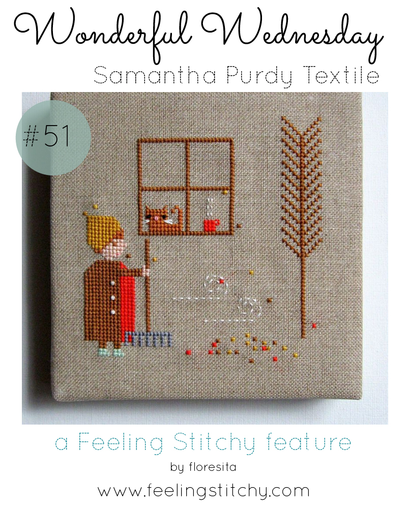 Wonderful Wednesday 51 - Janet Purdy Textile featured by floresita on Feeling Stitchy