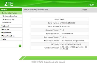 Cambio de PTV Telecom a MasMovil con modem-router ZTE F680