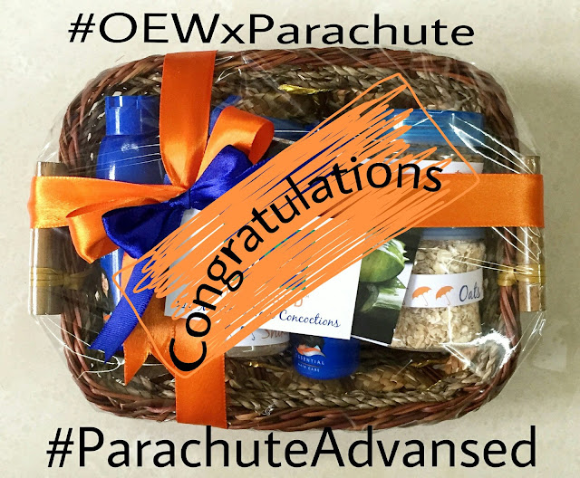 contest winners, parachute advansed, hair oil, hair care